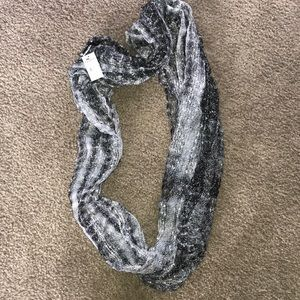 NWT black and silver infinity scarf/wrap